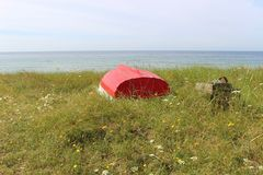 Op de kust van Ystad, Zuid-Zweden, Scandinavië, Europa Royalty-vrije Stock Fotografie