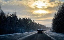 Op de manier aan Ekaterinburg stock foto's