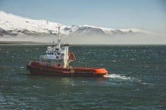 Op de manier aan Westman-Eilanden, IJsland Stock Afbeelding