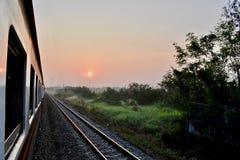 Op de manier van Bangkok aan Cambodjaanse grens stock foto
