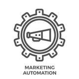 Op de markt brengend automatiseringspictogram stock illustratie