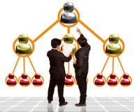 Op de markt brengend Commercieel team op verscheidene niveaus Stock Afbeelding