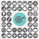 Op de markt brengend geplaatste pictogrammen Stock Fotografie