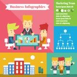 Op de markt brengend team Stock Fotografie