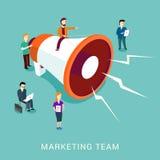 Op de markt brengend team vector illustratie