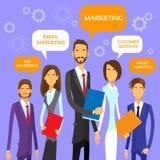 Op de markt brengend Team Concept Business People Group vector illustratie
