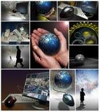 Op de markt brengende bedrijfshulpmiddelen Stock Foto