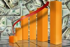 Op de markt brengende financiële grafiek Stock Fotografie