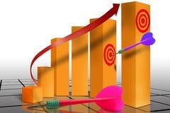 Op de markt brengende financiële grafiek stock illustratie