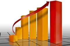 Op de markt brengende financiële grafiek Stock Foto