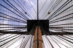 Op de mast stock foto