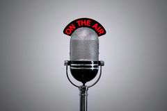 Op de Microfoon van de Lucht Royalty-vrije Stock Foto