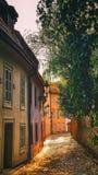 Op de Nieuwe Wereld in Praag Stock Foto's