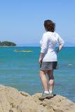 Op de overzeese kust Stock Fotografie