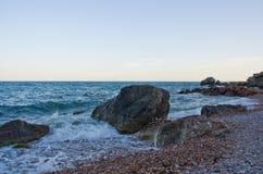 Op de overzeese kust Royalty-vrije Stock Afbeelding