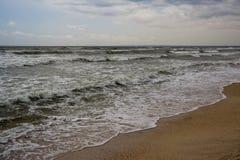 Op de overzeese kust Royalty-vrije Stock Foto's