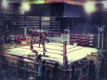 Op de ring Stock Afbeelding