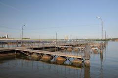 Op de rivier Stock Afbeeldingen