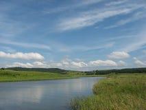 Op de rivier Stock Foto's