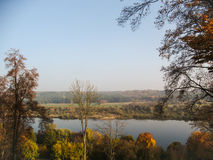 Op de rivier Stock Foto