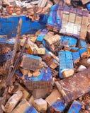 Op de ruïnes Stock Afbeelding
