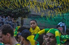 Op de schouders - Rio de Janiero stock fotografie