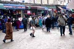 Op de smalle straten van oude Medina in Casablanca Stock Fotografie