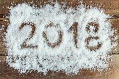 2018 op de sneeuw Stock Foto