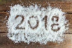 2018 op de sneeuw Royalty-vrije Stock Afbeelding