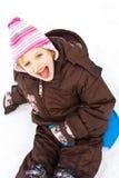 Op de sneeuw Royalty-vrije Stock Fotografie