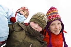 Op de sneeuw royalty-vrije stock afbeelding