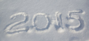 2015 op de sneeuw Royalty-vrije Stock Fotografie
