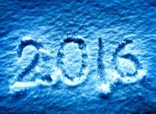 2016 op de sneeuw Royalty-vrije Stock Foto