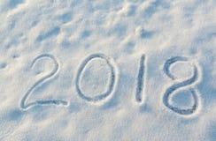 2018 op de sneeuw Stock Afbeelding