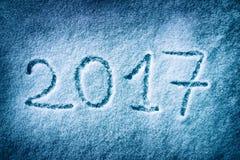 2017 op de sneeuw Stock Foto