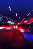 Op de snelle weg Stock Afbeelding