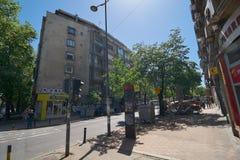 Op de straat in Belgrado Stock Foto