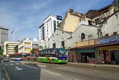 Op de straat in Chinatown Kuala Lumpur Stock Foto's