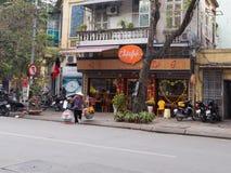 Op de straat in Hanoi Royalty-vrije Stock Foto's
