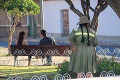 Op de straat in Sucre, Bolivië Stock Afbeelding