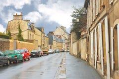 Op de straten van Bayeux. stock foto's