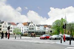 Op de straten van Brussel. Stock Foto