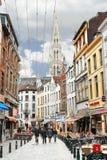 Op de straten van Brussel. Stock Foto's