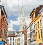 Op de straten van Brussel. Stock Afbeeldingen