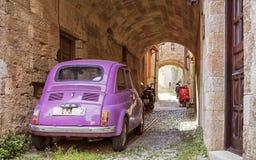 Op de straten van de oude stad van Rhodos, Griekenland Royalty-vrije Stock Foto