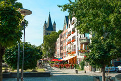 Op de straten van Keulen Royalty-vrije Stock Foto's