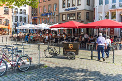 Op de straten van Keulen Royalty-vrije Stock Afbeeldingen