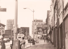 In 1982 op de straten van Seattle, de staat van Washington, de V.S. Royalty-vrije Stock Afbeeldingen