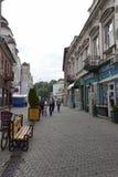 Op de straten van Uzhgorod Stock Foto's