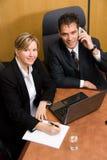 Op de telefoon Royalty-vrije Stock Afbeelding